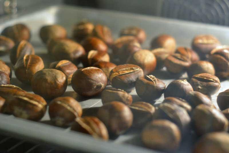 Esskastanien zubereiten im Backrohr ist eine einfache und erfolgversprechende Methode.