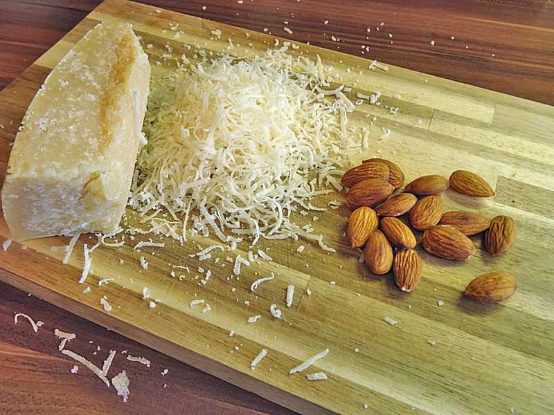 Zutaten für das Radicchio-Pesto