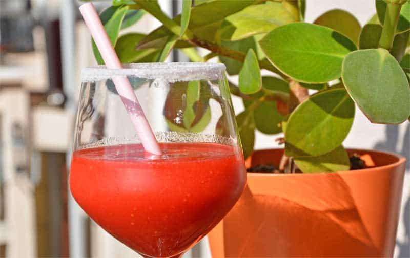 Urlaubsfeeling mit der Frozen Strawberry Margarita