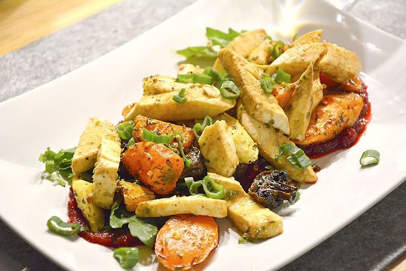 Mozzarella mit Gemüse ist das perfekte Winteressen