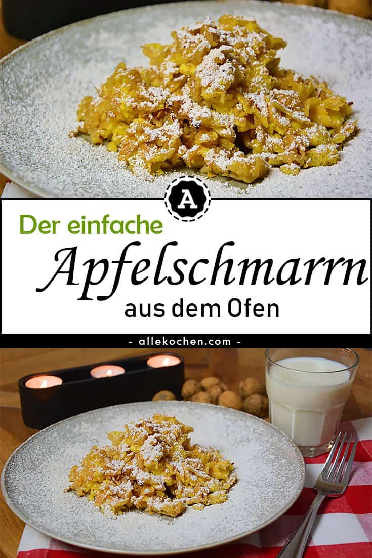 Einfacher Apfelschmarrn aus dem Ofen