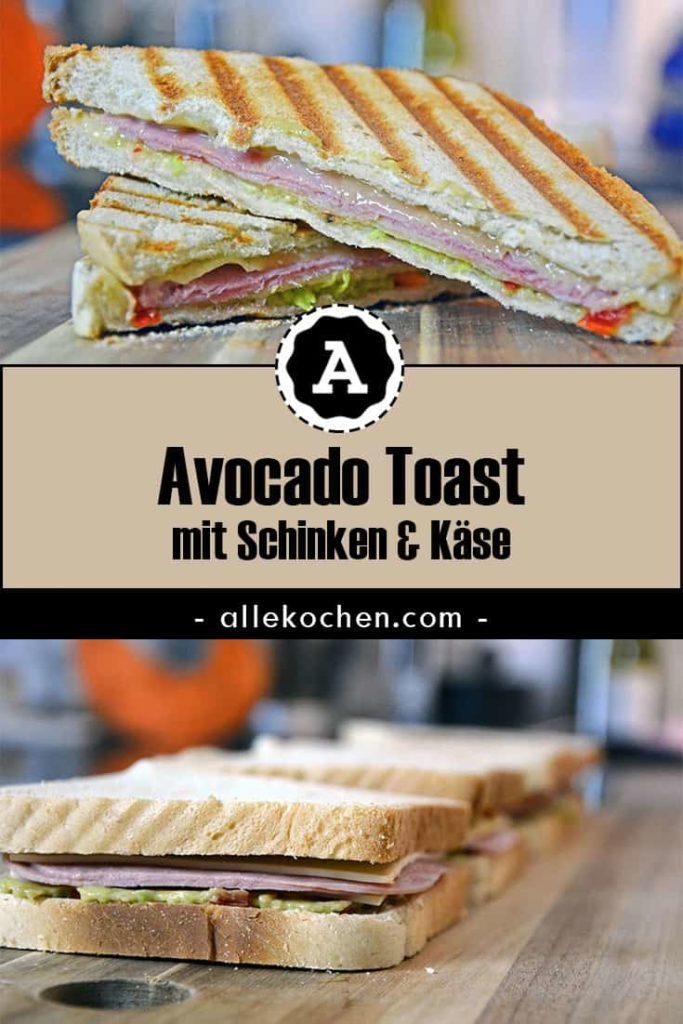 Ein Avocado Toast als schnelles Abendessen.