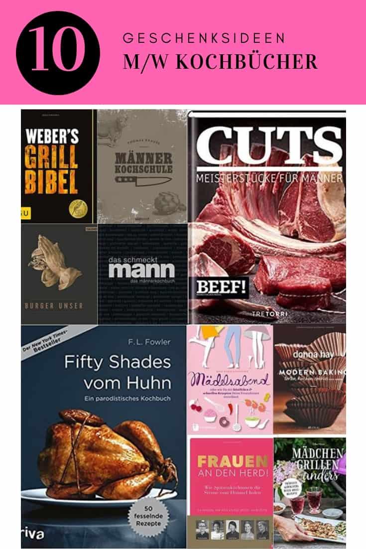 Geschenksideen für Kochbücher für Männer und Frauen