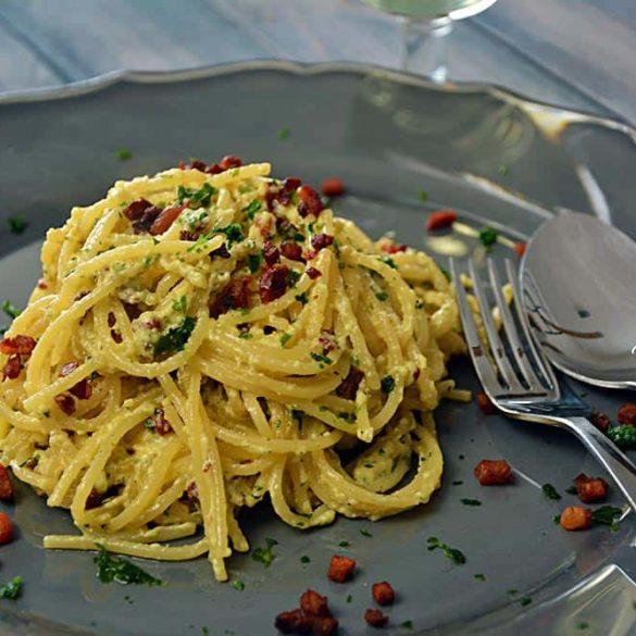 Rezept für einfache Spaghetti Carbonara