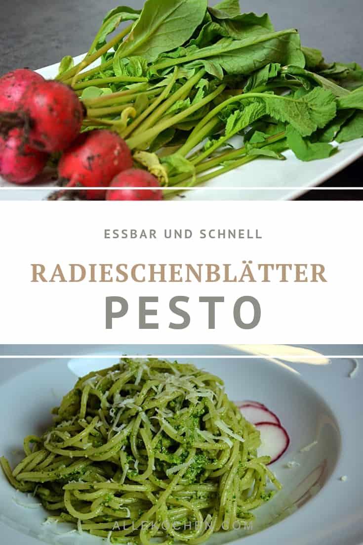 Dieses Rezept für ein schnelles und einfaches Radieschenblätter Pesto ist lecker und gesund. Essen statt wegwerfen. Das Pesto aus Radieschengrün selber machen statt kaufen. Nicht nur für Pasta sondern auch gut aufs Brot.