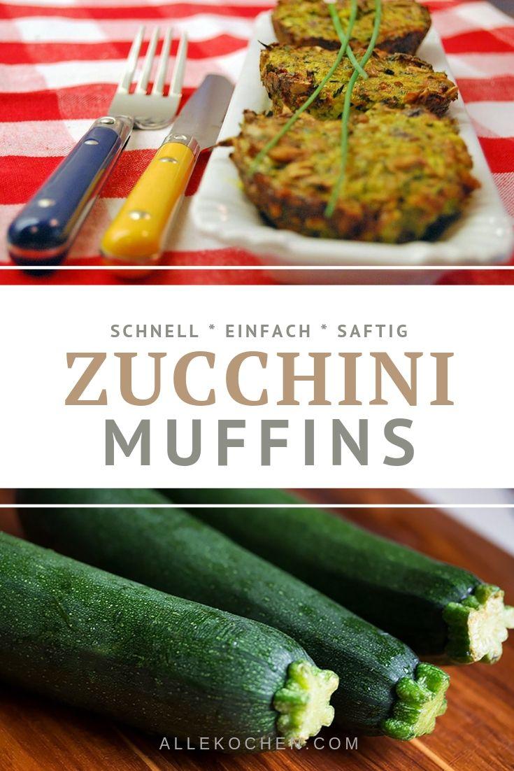 Ein Rezept für schnelle Zucchini Muffins backen. Gelingt jedem und ist einfach zu backen. Das perfekte Abendessen mit einem frischen Joghurt-Kräuter-Dip.