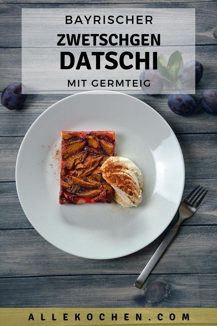 Zwetschgendatschi mit Germteig ist eine sehr beliebte und einfache Nachspeise aus  Bayern. Der Blechkuchen ist sehr einfach zu machen und schmeckt bestimmt der ganzen Familie.