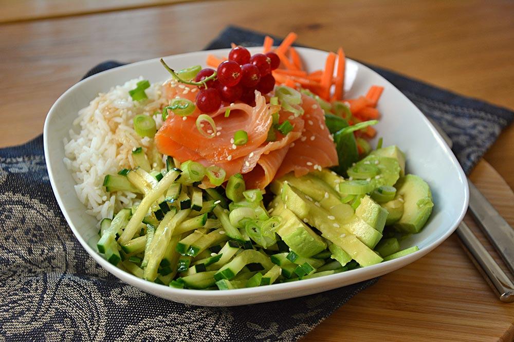 Anleitung und Tipps für eine schöne Buddha Bowl. Sie ist nicht nur gesund und einfach, sie ist auch extrem vielseitig und flexibel. Vegan, vegetarisch oder mit Fleisch, alles ist möglich. Ein richtiges Joga-Essen.