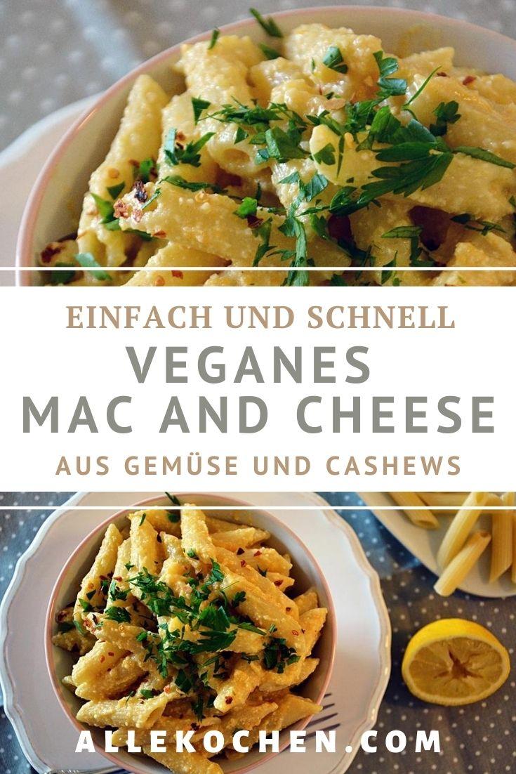 Mac and Cheese kann ja auch mal vegan sein. Die Sauce aus Gemüse und Cashewnüsse macht eine tolle Konsistenz, versuch es einfach mal.