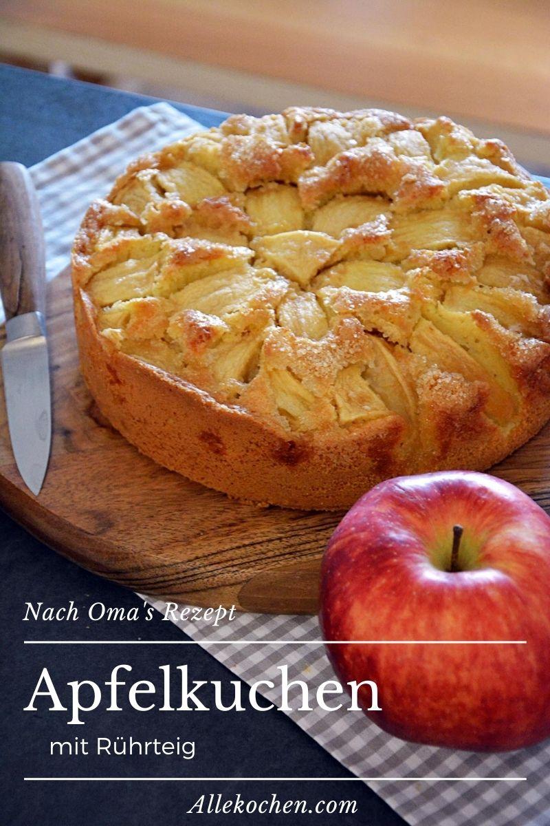 Ein versunkener Apfelkuchen nach Oma's Rezept. Geht schnell und ist schön saftig.