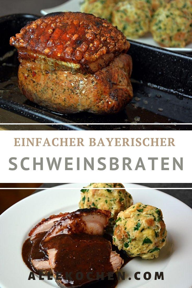 Ein bayrischer Schweinsbraten mit eines schönen Rotweinsauce und Semmelknödel. Ein richtiges Festessen für alle Genießer.